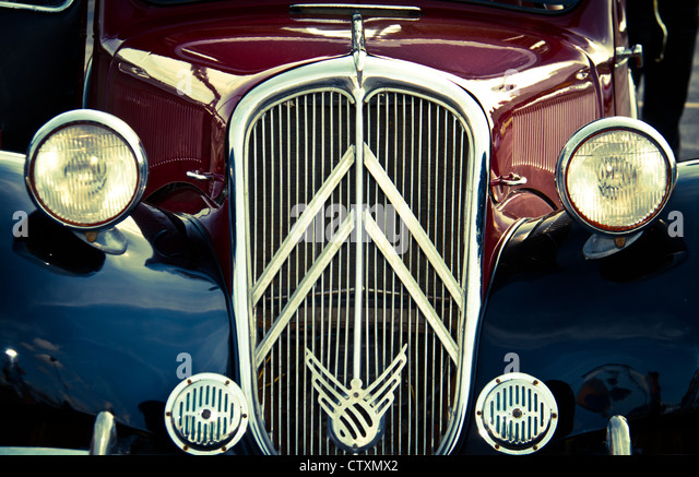 Vintage Automobile Front Center With One Headlight : Front grill antique stock photos