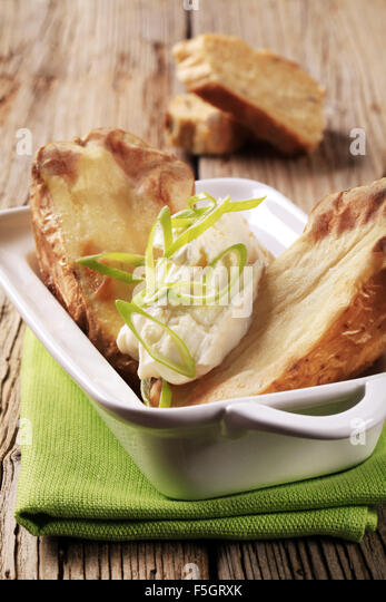 Baked Potato Sour Cream Spring Stock Photos & Baked Potato ...