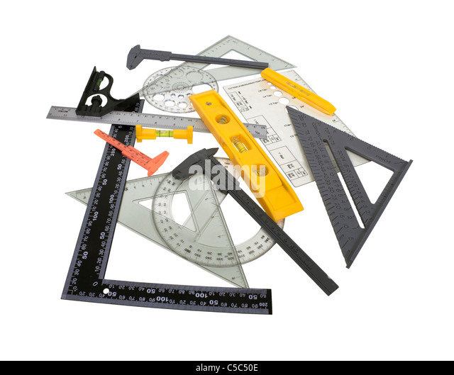 Engineering Measuring Instruments : Drafting tools stock photos images