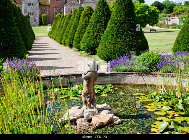 Garden pond and water feature stock photos garden pond for Ornamental pond