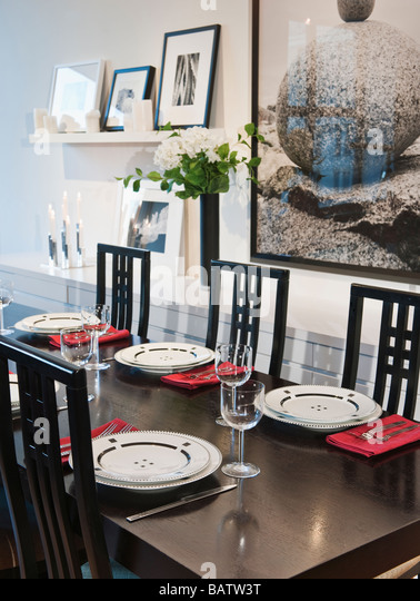 Fine dining place setting stock photos fine dining place for Auberge maison deschambault