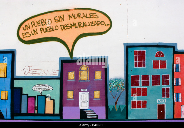 Hispanic mural stock photos hispanic mural stock images for Telephone mural 1970