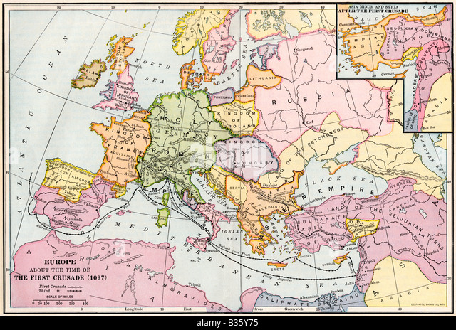 Medieval Europe Map Stock Photos  Medieval Europe Map Stock