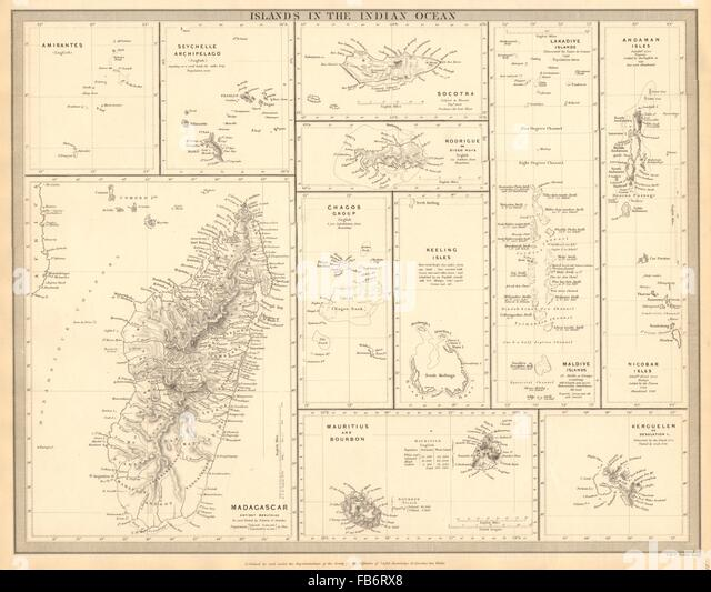 Indian Ocean Islands Map Stock Photos  Indian Ocean Islands Map