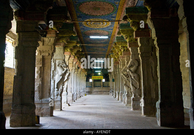 Interior Sri Meenakshi Temple Madurai Stock Photos ...