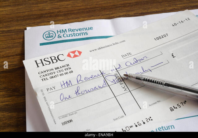 Cheque bank uk stock photos cheque bank uk stock images alamy tax demand writing cheque stock image ccuart Images