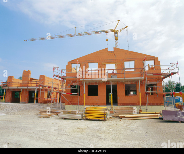 Sauerlach Germany  city pictures gallery : ... homes under construction, Sauerlach, Bavaria, Germany Stock Image