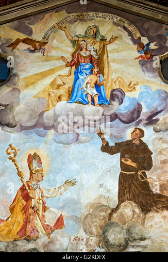 Religious mural painting stock photos religious mural for Christian mural