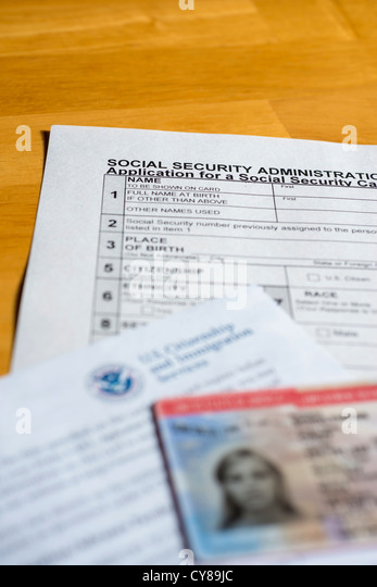 Social Security Card Usa Stock Photos & Social Security Card Usa