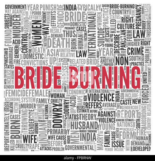 dowry and bride burning More than 6,000 women are killed each year because their in-laws consider their dowries inadequate bride burning is an example of dowry death that is practiced.