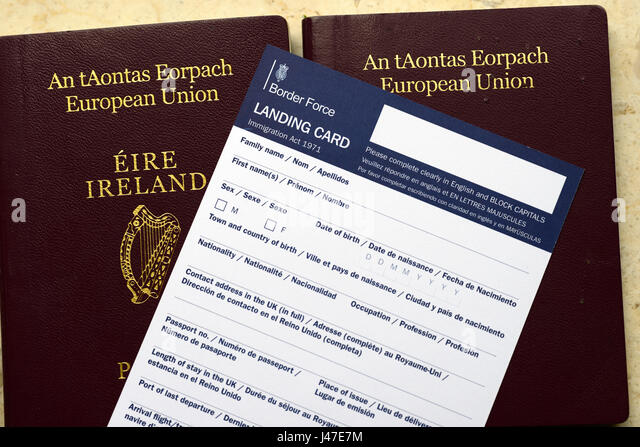 Ireland Landing Card