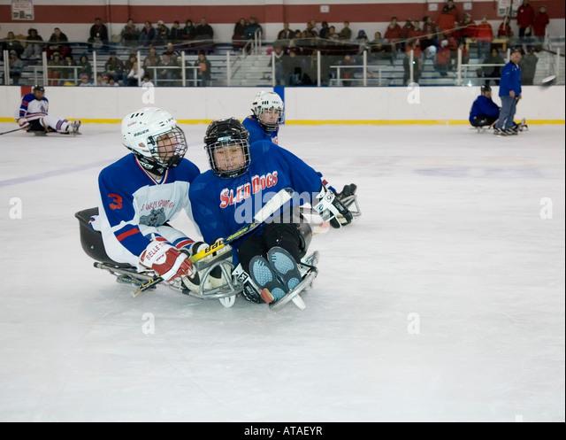 how to play sledge hockey