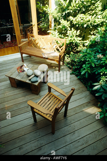 garden decking bench garden decking stock photos amp bench garden decking stock