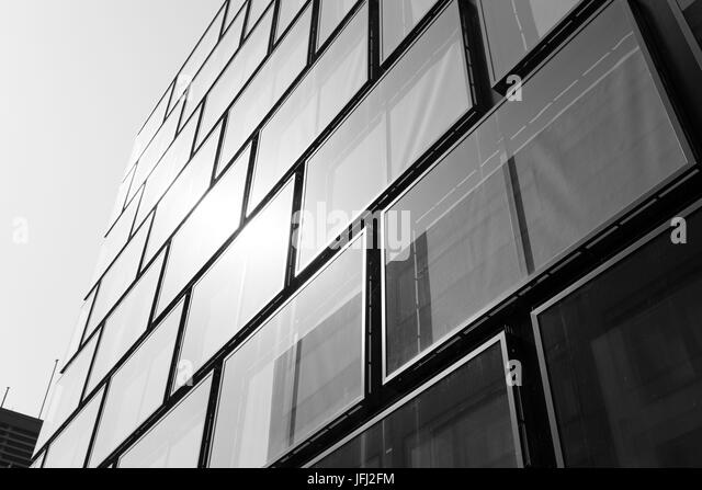 Mirroring, glass front, sample, rectangles, heavens - Stock Image
