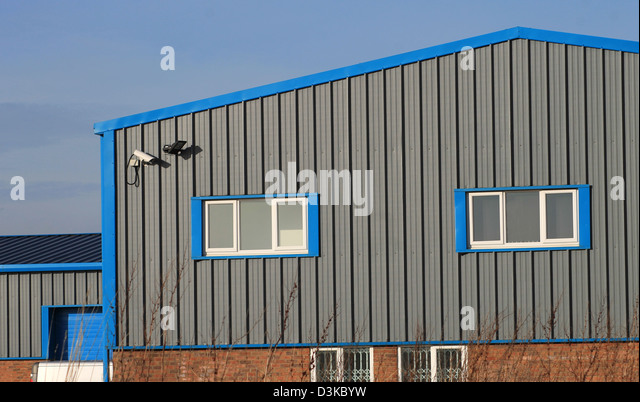 Architectural factory stock photos architectural factory for Modern factory building design