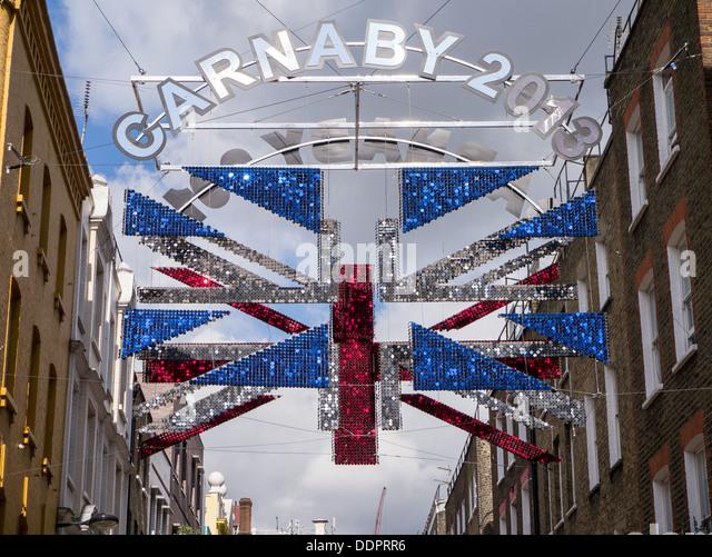 Carnaby street london union jack stock photos carnaby for Decoration murale union jack