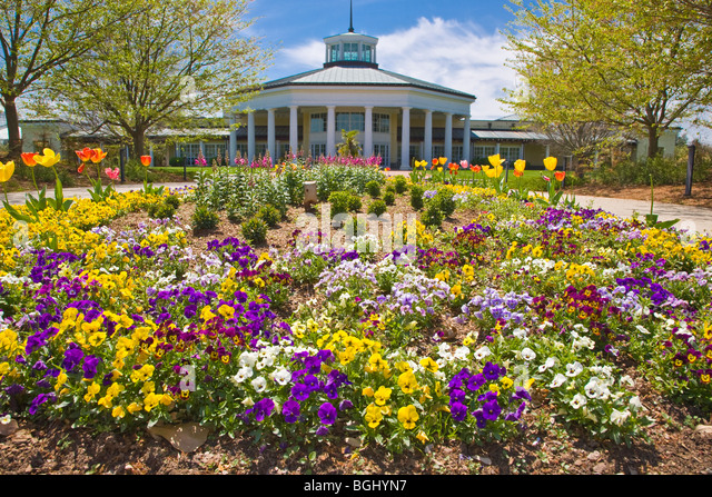 Spring In Daniel Stowe Botanical Garden In Belmont North Carolina   Stock  Image