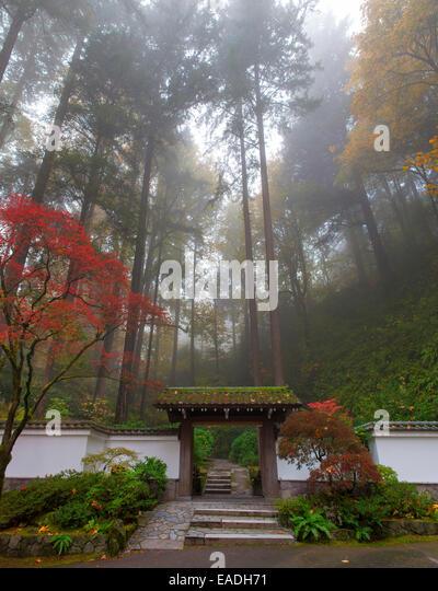 Entrance To Portland Rose Gardens : Stoneworks stock photos images alamy