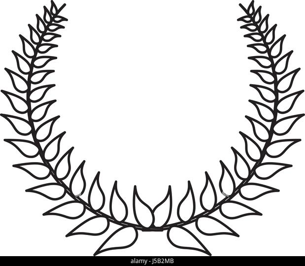 wreath leaves ornament icon vector stock photos  u0026 wreath