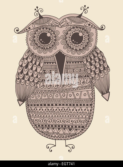 Owl Draw Stock Photos Amp Owl Draw Stock Images