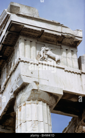 Metope Of Centaur Holding A Lapith Warrior Southwest Corner The Parthenon Acropolis