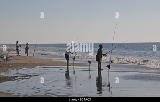 Surf fishing stock photos surf fishing stock images alamy for Surf fishing nc