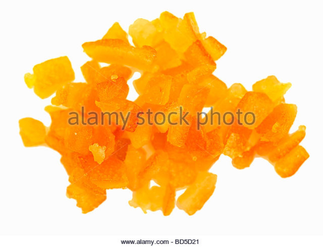 Orange Cheese Cake With Candied Peels