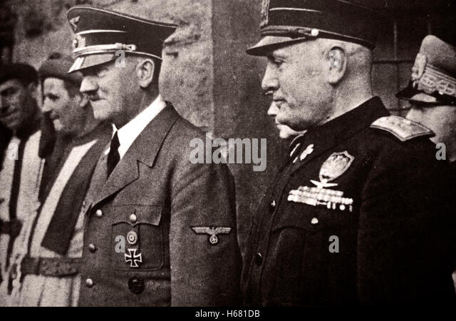 benito mussolini and adolf hitler Hitler and mussolini had very similar ideology on what they wanted to do with their country while they didn't agree on most things and that is why mussolini didn't side with hitler during wwii they also had different ideas pertaining to the economy and their end goals where different.