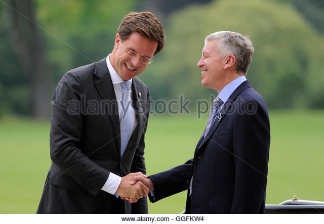Maurits Hendriks Netherlands Prime Minister Mark Rutte L: Queen Elizabeth Ii Attending State Stock Photos & Queen