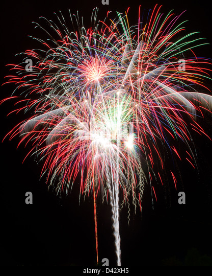 Red White Blue Fireworks Stock Photos & Red White Blue ...