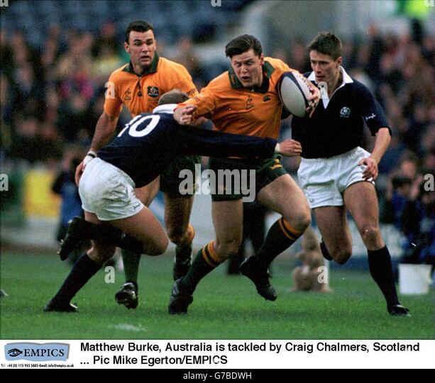Scotland V Australia World Rugby: Craig Chalmers Stock Photos & Craig Chalmers Stock Images
