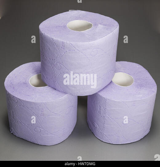 Gentle And Soft Pleated Purple Toilet Paper