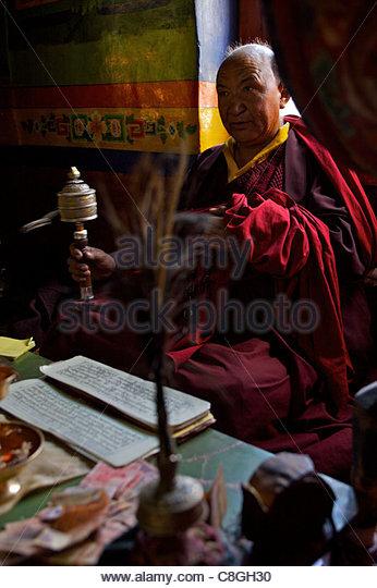 Tibetan Monk Praying Stock Photos & Tibetan Monk Praying ...