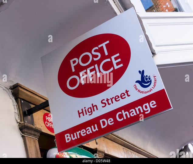 Bureau de change stock photos bureau de change stock - Post office bureau de change exchange rates ...