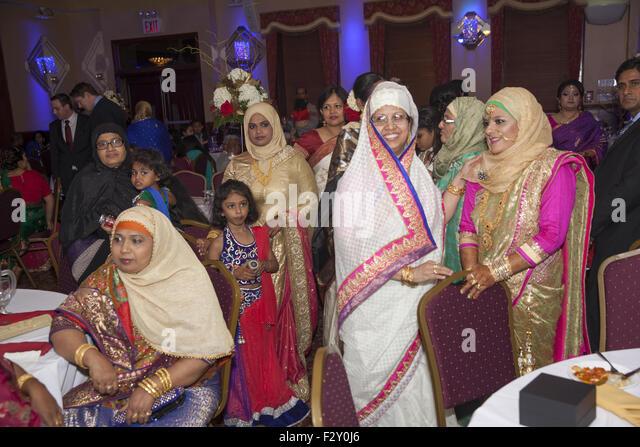 stock photo young bangladeshi american bride wedding reception brooklyn