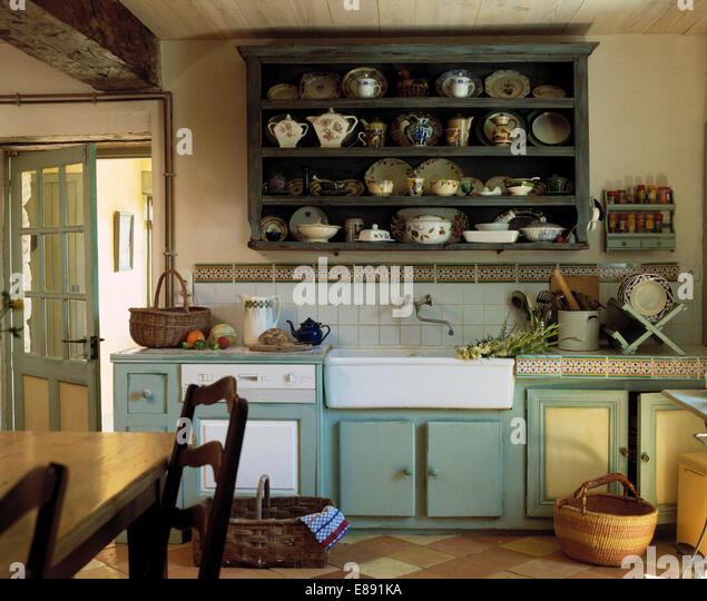 Kitchen Shelves Above Sink: Shelves Above Kitchen Sink Stock Photos & Shelves Above