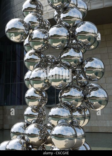Sculptural Spheres Crazy Wonderful: Sculpture Spheres Chrome Balls Stock Photos & Sculpture