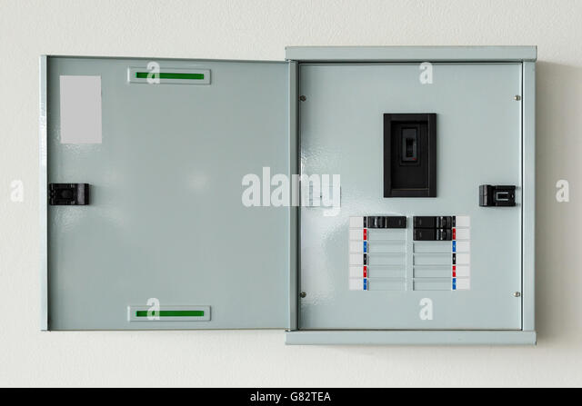close up control box open on wall at home g82tea fuse box house stock photos & fuse box house stock images alamy how to open up a fuse box at suagrazia.org