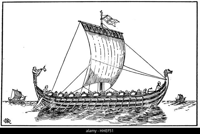 Viking Ship Black and White Stock Photos & Images - Alamy