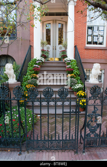 City Apartment Building Entrance. Entrance to apartment building in Chelsea district of Manhattan New York  City Stock Image Old Apartment Photos