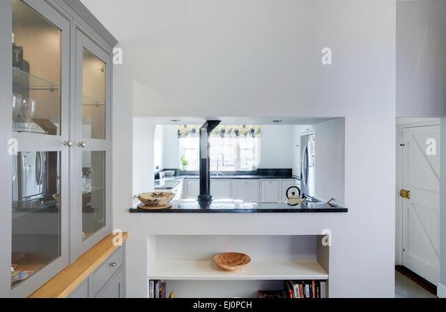 Kitchen Serving Hatch Doors Close