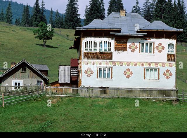 Ciocanesti stock photos ciocanesti stock images alamy - The painted houses of ciocanesti ...