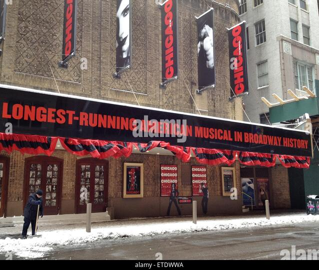 Image result for broadway theatre district snow pics