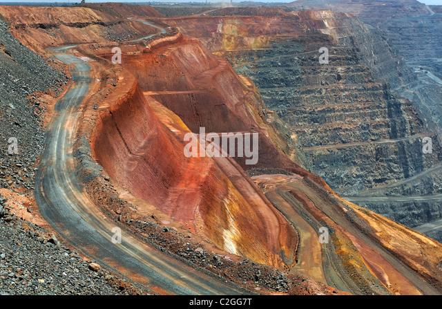 Super Pit Gold Mine  Kalgoorlie Western Australia   Stock Image