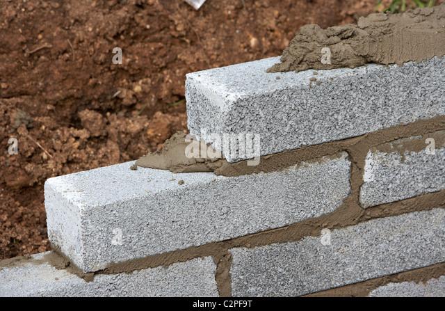 Bricklayers Laying Bricks Stock Photos Bricklayers
