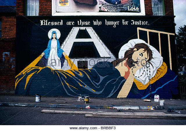Belfast mural h block stock photos belfast mural h block for Mural northern ireland