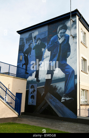Ireland history painting stock photos ireland history for Dublin wall mural