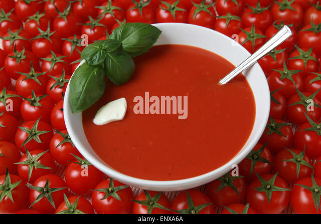 tomatensuppe stock photos tomatensuppe stock images alamy. Black Bedroom Furniture Sets. Home Design Ideas