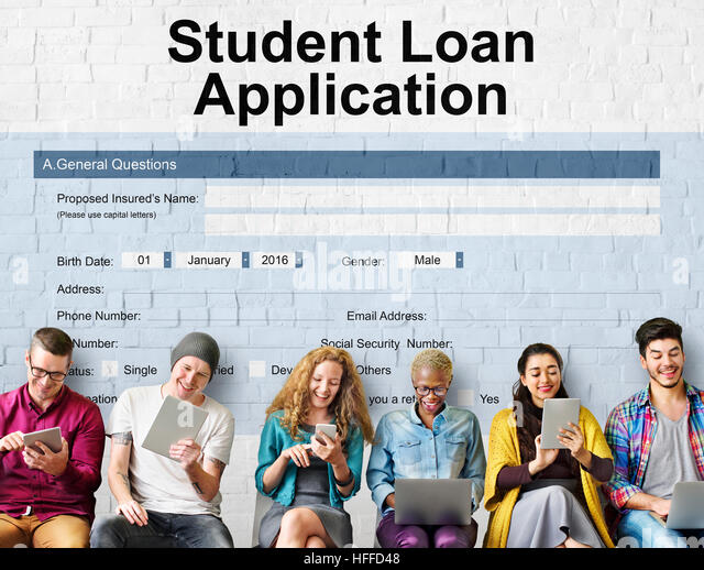Student Loan Application Form Registration Stock Photos  Student