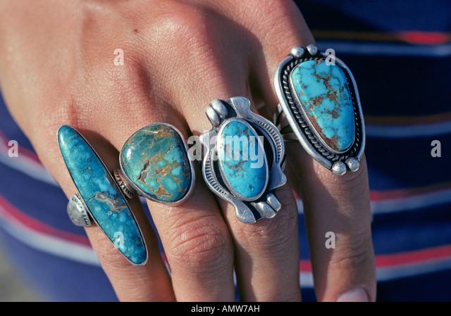 Turquoise jewelry new mexico stock photos turquoise for Turquoise jewelry taos new mexico